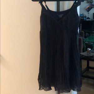 Black dress ruffle straps